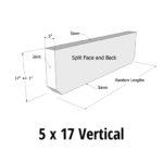 AGCP Curb Styles 5 x 17 Vertical